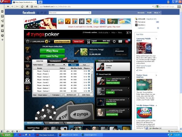 ini adalah hasil cheat poker yang pertama kali saya coba..